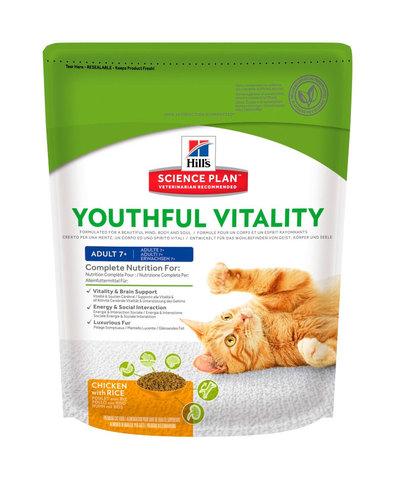 Hill's Youthful Vitality сухой корм для пожилых кошек (курица) 250г
