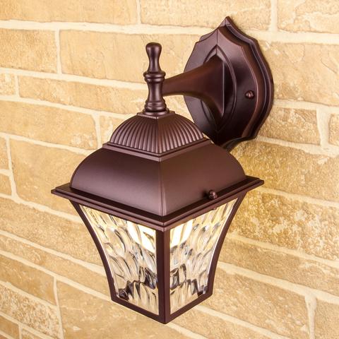 Apus D шоколад уличный настенный светильник GL 1009D