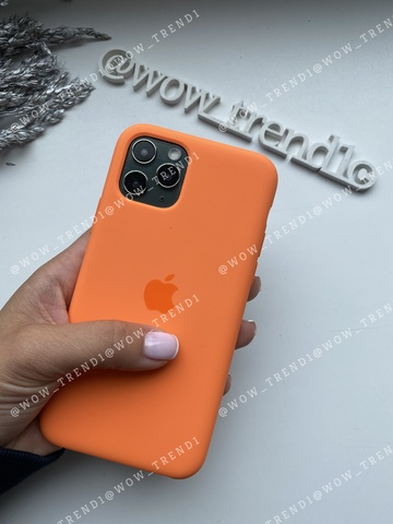 Чехол iPhone 11 Silicone Case /vitamin C/ оранжевый витамин original quality