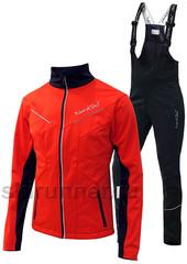 Утеплённый лыжный  костюм Nordski Premium 2018 Red/Black мужской с высокой спинкой