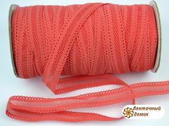 Резинка ажурная для повязок коралловая ширина 16 мм