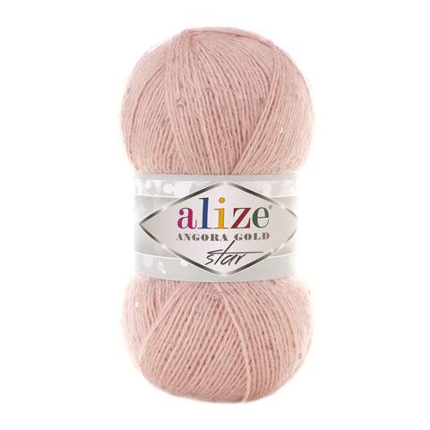 Пряжа Alize Angora Gold Star 399 розовая пудра
