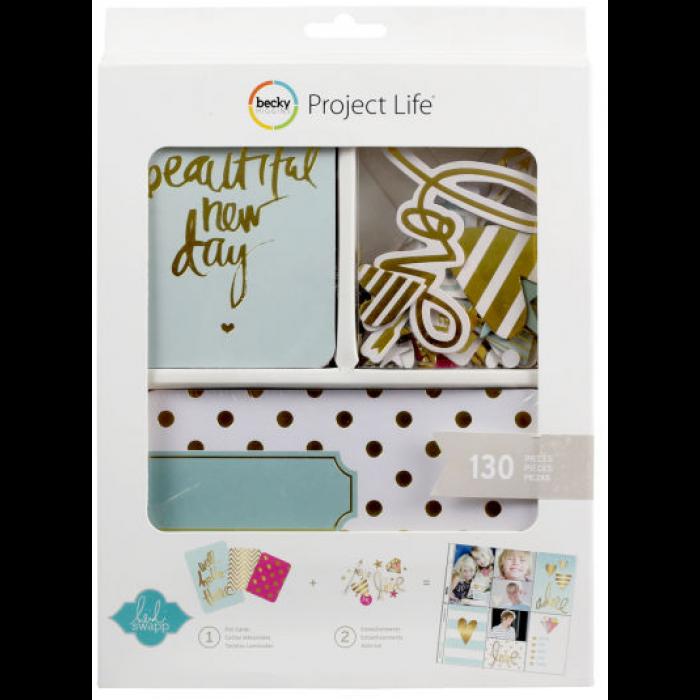 Kit набор карточек и украшений для Project Life 130шт