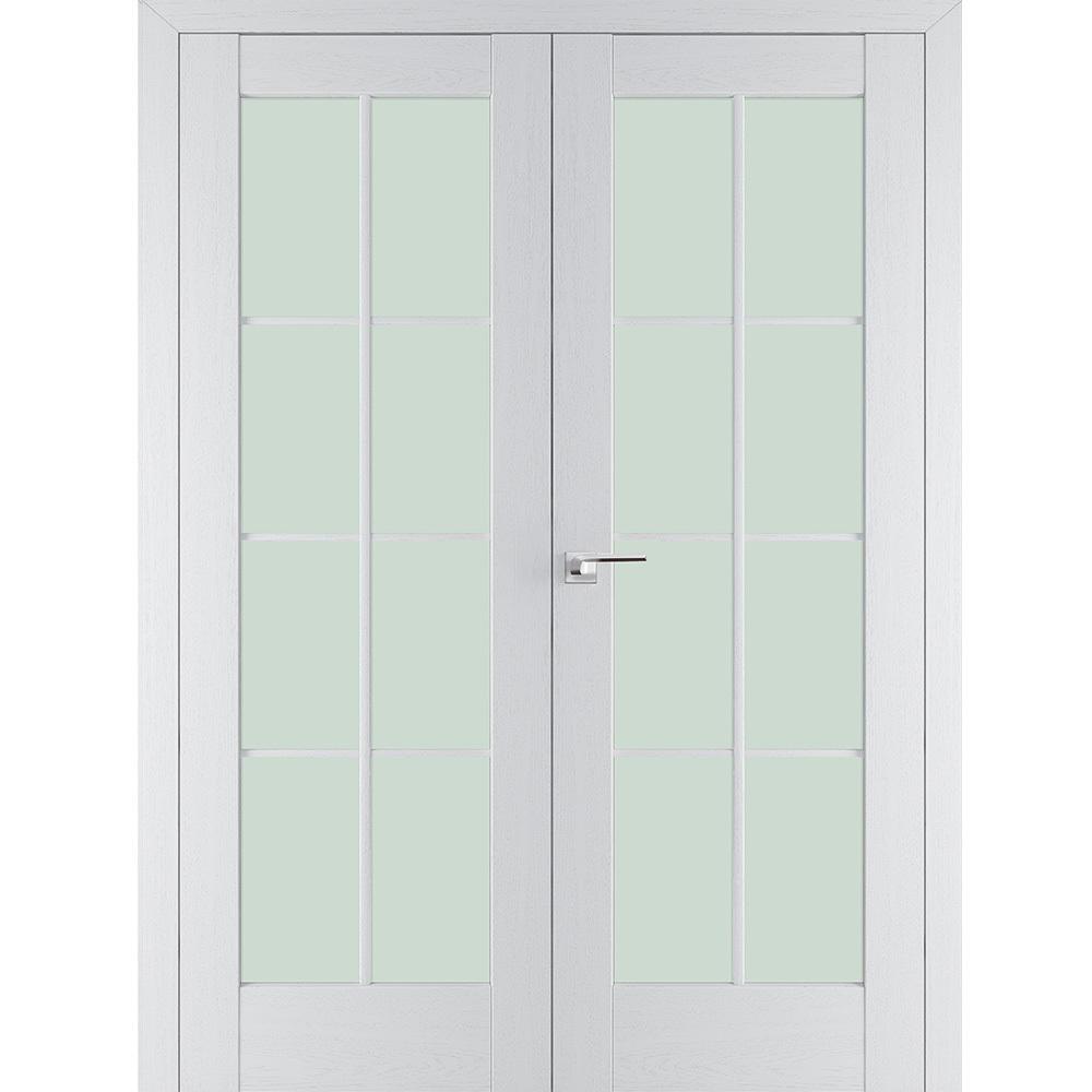 Межкомнатные двери Межкомнатная дверь экошпон Profil Doors 101Х пекан белый распашная двустворчатая остеклённая 101x-pekan-beliy-por-dvertsov.jpg
