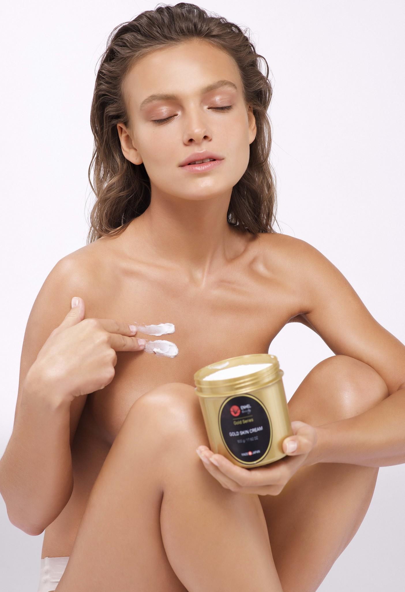 Питательный крем для лица, шеи, груди и зоны декольте Gold Skin Cream Enhel Beauty