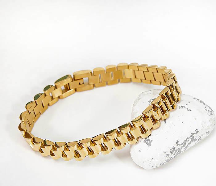 BM341-2 Классический браслет из стали золотистого цвета