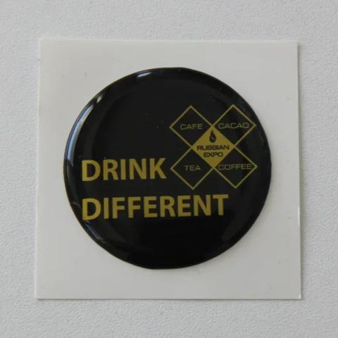 Наклейки drink different (black)