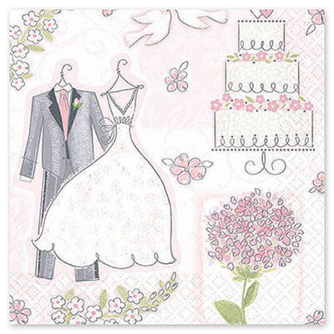 Салфетка Свадьба Romantic 33см 16 шт