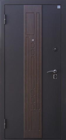 Дверь входная Агат стальная, тиковое дерево, 2 замка, фабрика Алмаз