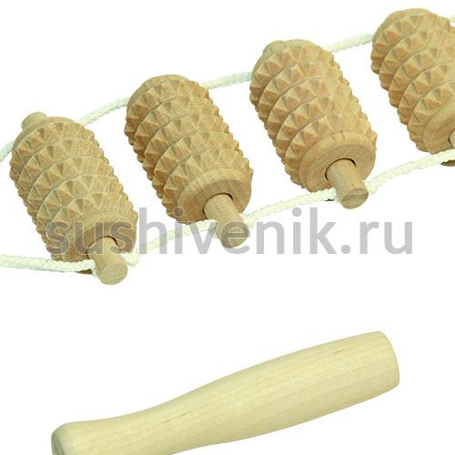 Массажер ленточный зубчатый из березы