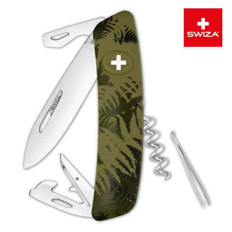 Швейцарский нож Swiza  (KNI.0030.2050) C03 Camouflage 95 мм 11 функций хаки