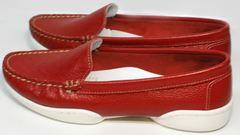 Женские красные мокасины купить Evromoda 042.5710 WRed.