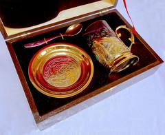 Чайный набор с малахитом