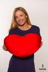 Подушка-игрушка антистресс «Большое красное сердце» 2