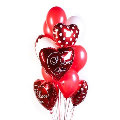 Букет шаров на день всех влюбленных