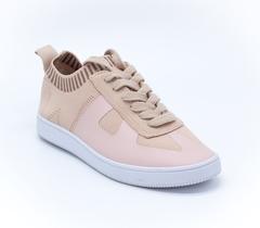 Бежевые кроссовки из текстиля