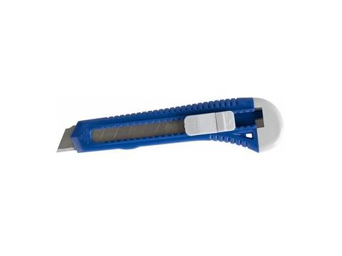 Нож технический КОБАЛЬТ лезвие 18 мм, пластиковый корпус, пакет (242-175)