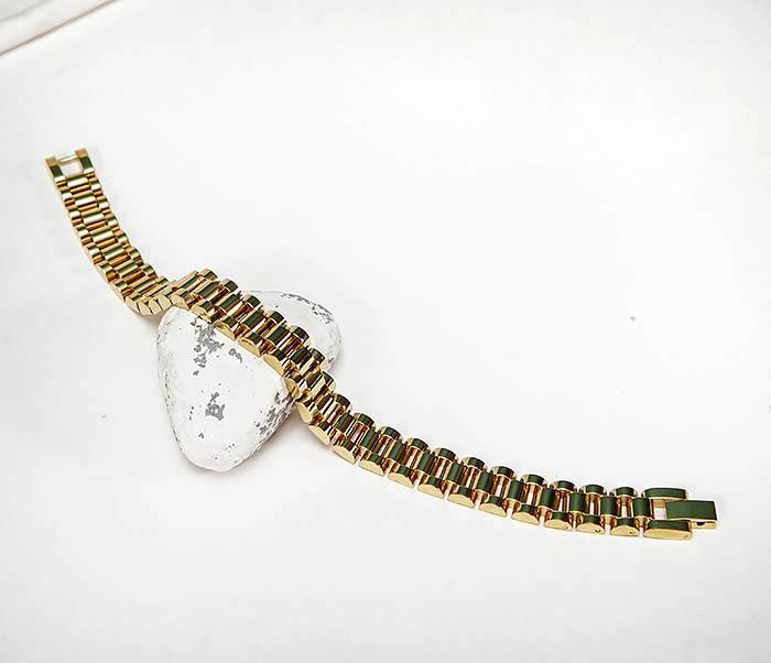 BM341-2 Классический браслет из стали золотистого цвета фото 02