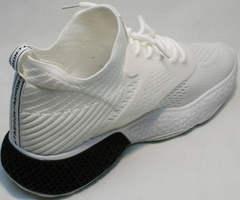 Чисто белые кроссовки повседневные женские El Passo KY-5 White.