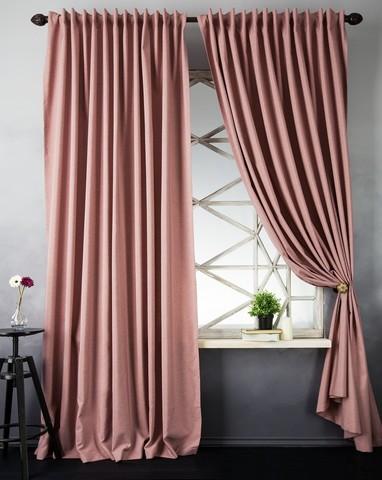 Комплект штор с подхватами Джейн розовый