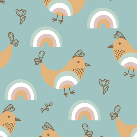 Птички и радуга
