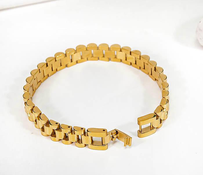 BM341-2 Классический браслет из стали золотистого цвета фото 04