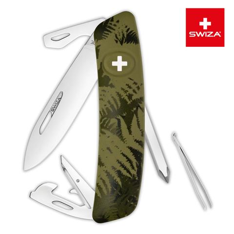 Швейцарский нож Swiza  (KNI.0040.2050) C04 Camouflage 95 мм 11 функций хаки