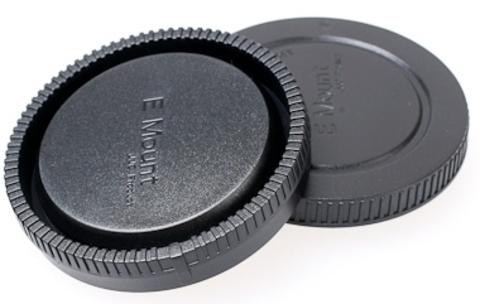 Задняя крышка объектива  + крышка байонета Sony NEX  JJC LR9