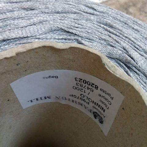 Вискоза ленточная  FASHION MILL NINNOLO 120 светло-серый меланж