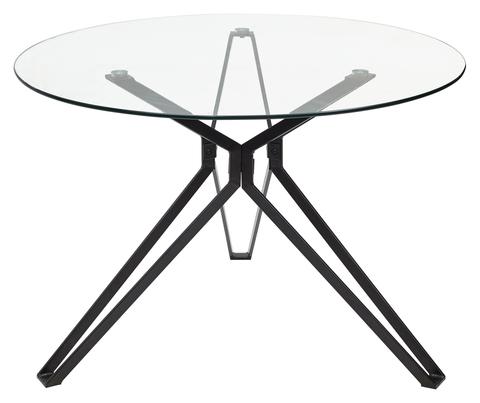 Стол круглый VENETO D110 прозрачный (110 см.)