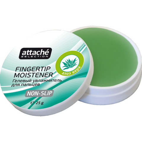 Подушка для смачивания пальцев гелевая Attache Selection алоэ вера 25 г