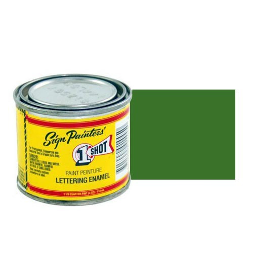 Пинстрайпинг (pinstriping) 144-L Эмаль для пинстрайпинга 1 Shot Сосново-зелёный (Medium Green), 236 мл MediumGreen.jpg