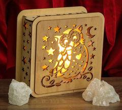 Солевая лампа Сова 2-2,5кг