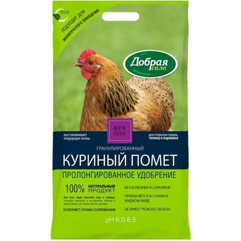 Граннулированный куриный помет Добрая сила  5кг удобрение