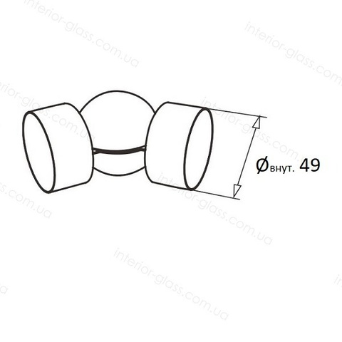 Соединитель ПВХ поручня D=49 мм ST-457 шарнирный