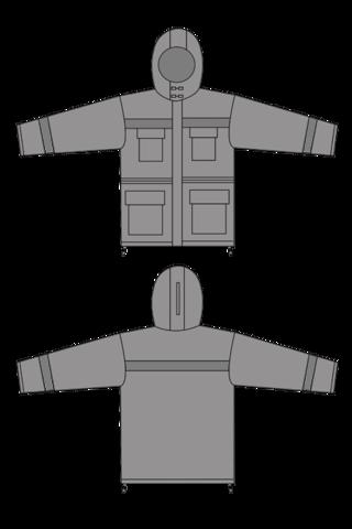 Выкройка костюма джоббер технический рисунок куртка