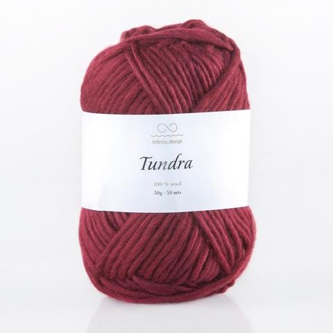 Пряжа Infinity Tundra 4554 красное вино