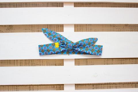 Повязка на голову (солоха) серо-голубая