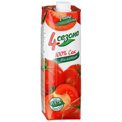 Сок  4 Сезона  томатный 1 л. т/пак шт.