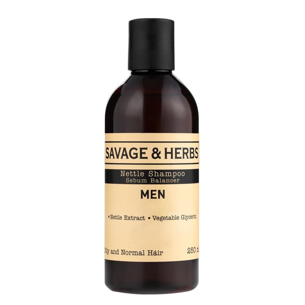 Для мужчин Мужской травяной шампунь для жирных волос из крапивы SH0002_front.jpg