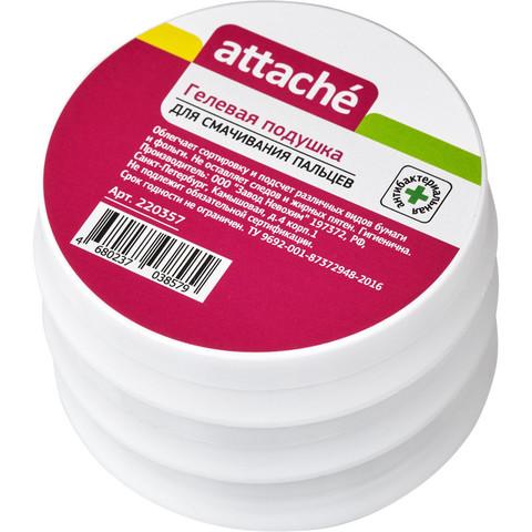 Подушка для смачивания пальцев гелевая Attache 25 г (3 штуки в упаковке)