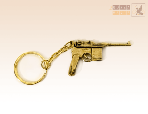 брелок Пистолет Маузер К-96 (Mauser C-96) Большой