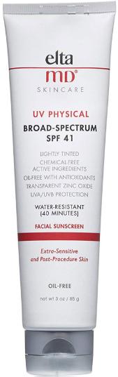 elta MD UV Physical Broad-Spectrum солнцезащитное средство для лица с оттенком SPF41 85г
