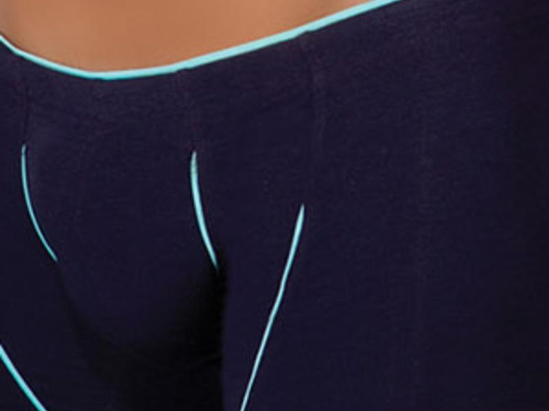 Мужские трусы  хипсы Doreanse  фиолетовый с бирюзовой отделкой 1570