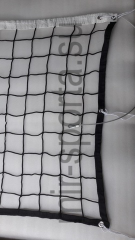 Профессиональная сетка для волейбола нить 4.0мм, с тросом