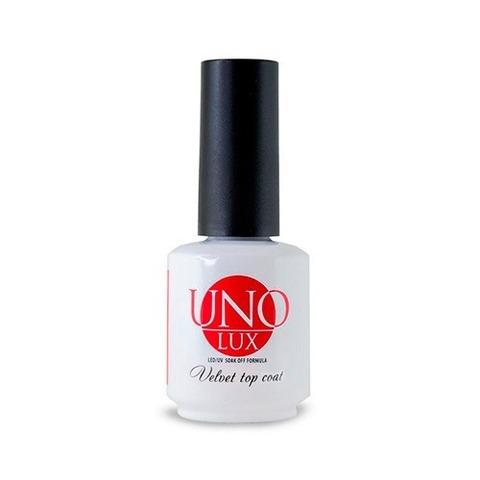 Топ для гель-лака UNO Lux Velvet Top Coat, 15 мл