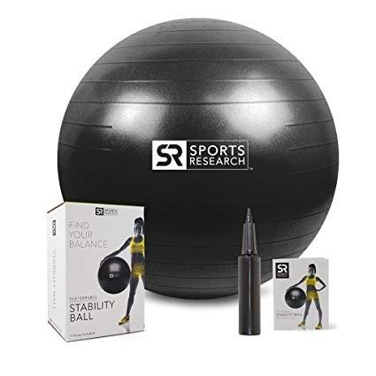 Фитнес-мяч Sports Research, черный