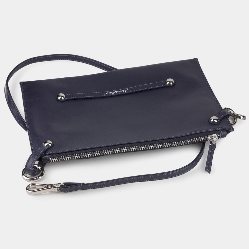 Женская сумка Julie Easy из натуральной кожи теленка, цвета индиго