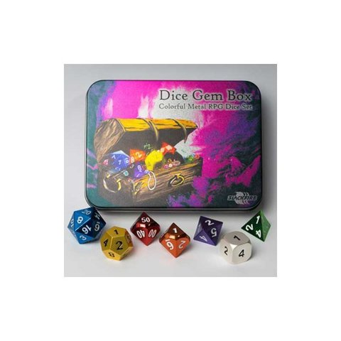 Blackfire Dice - Metal Dice Set - Dice Gem Box