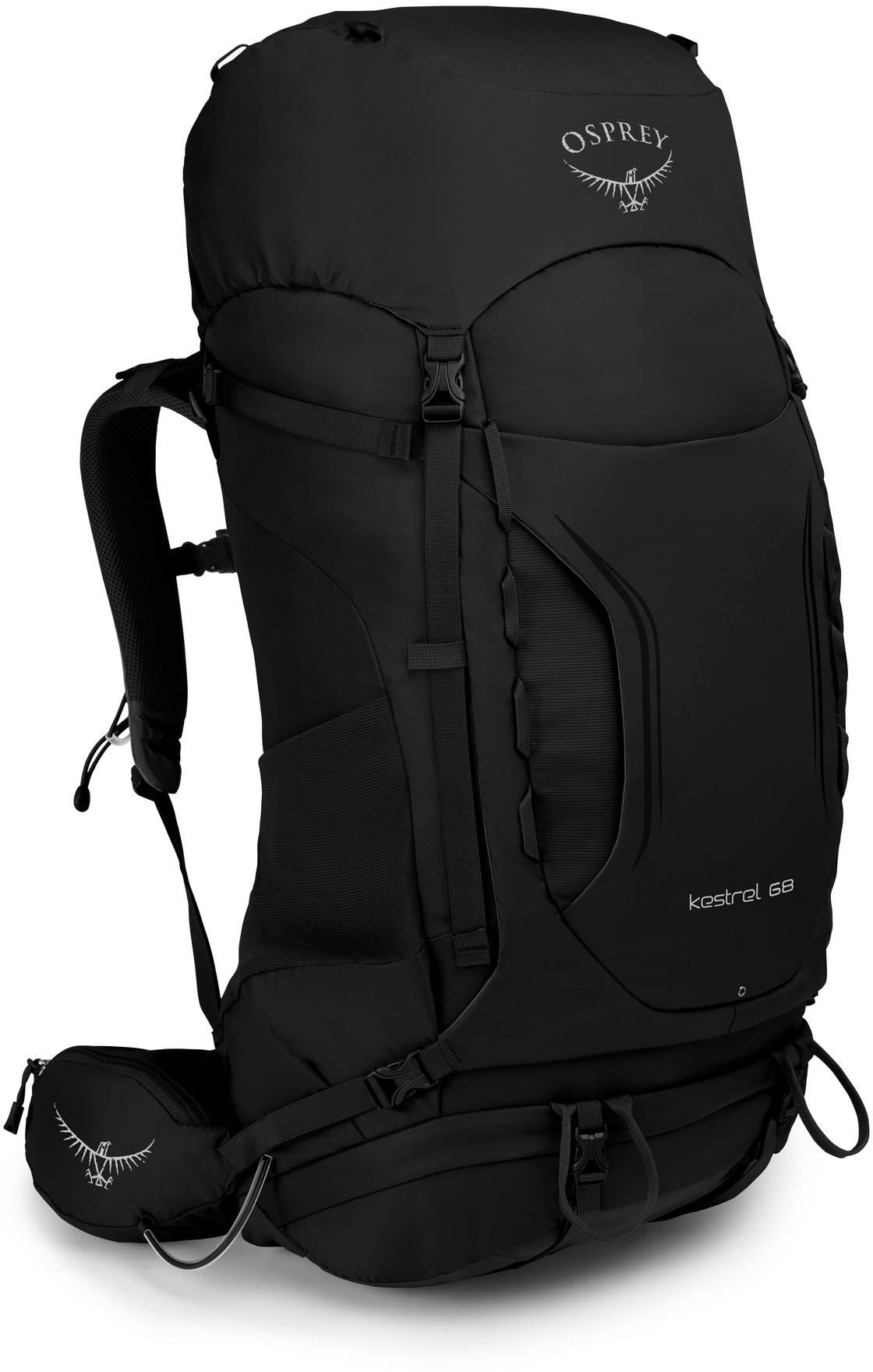Kestrel Рюкзак туристический Osprey Kestrel 68 Black (2019) Kestrel_68_S19_Side_Black_web.jpg